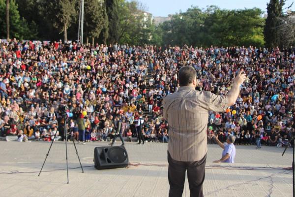 الاتحاد العام لنقابات عمال فلسطين بنابلس ينظمون مهرجان فرحة عيد