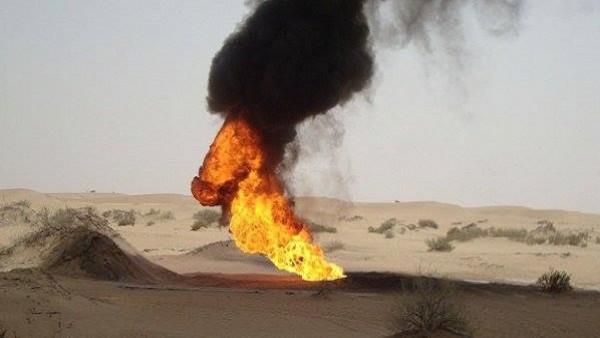 مجهولون يفجرون أنبوب نفط في شبوة اليمنية