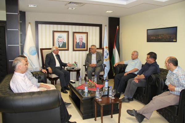 الوزير غنيم يلتقي رئيس جامعة البولتكنك