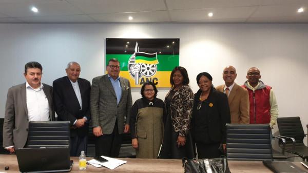 السفير الدجاني يجتمع مع نائبة السكرتير العام للحزب الحاكم في جنوب إفريقيا