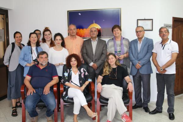 نائب محافظ القدس يلتقي وفدا اعلاميا يونانيا