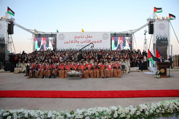 جامعة القدس تحتفل بتخريج طلبة الدفعة الأولى من الفوج الثامن والثلاثين