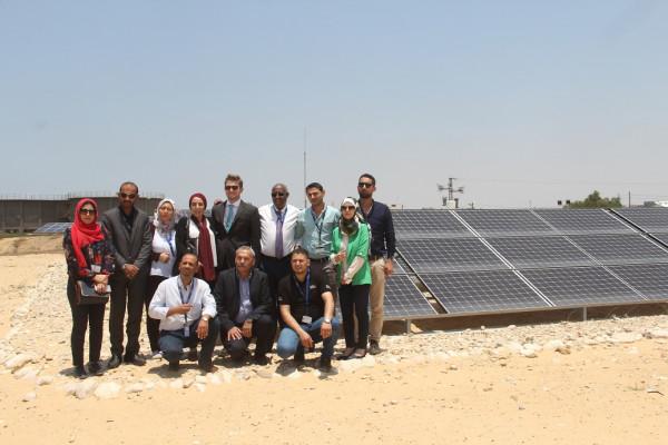 السفير الياباني يفتتح محطة الطاقة الشمسية المغذية لمحطة المعالجة برفح