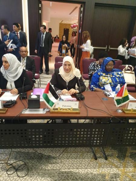 حمد تُطالب بإدانة الانتهاكات الإسرائيلية المتواصلة بحق النساء