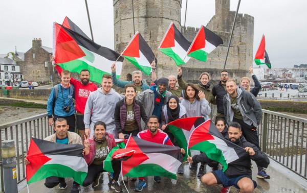 """فريق """"الحق في الحركة فلسطين"""" يختتم مشاركته بالنسخة 37 لسباق قلاع ويلز"""