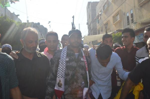 كتائب الشهيد عبد القادر الحسيني ومفوضية الاسرى تستقبل الأسير شادي سعيد