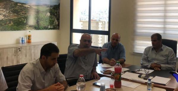السعدي يشارك بجلسة عمل في بلدية عرابة حول غرق سهل البطوف