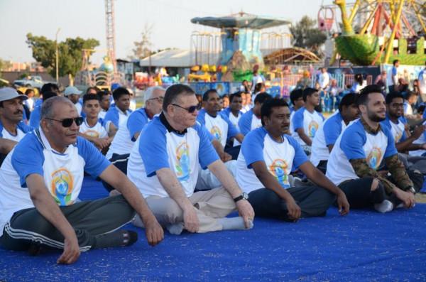 الاحتفال باليوم العالمي الخامس لليوجا في الإسماعيلية