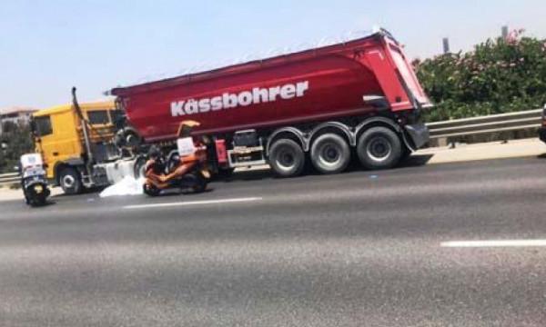 مصرع سائق دراجة نارية في حادث سير قرب الرملة