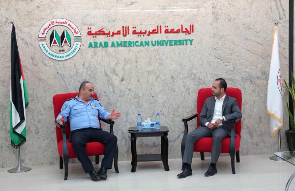 شرطة محافظة جنين تزور الجامعة العربية الأمريكية