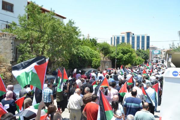 مسيرة حاشدة بسلفيت رفضا للورشة الأميركية بالبحرين وصفقة القرن