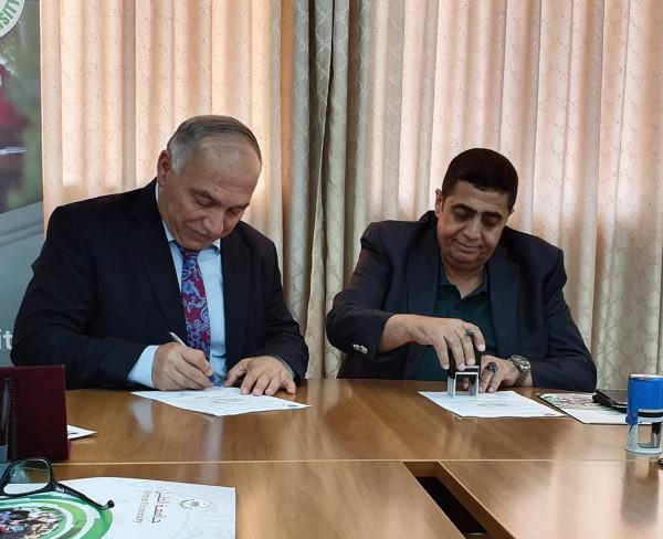 اللجنة القطرية الدائمة لدعم القدس وجامعة الخليل يوقعان اتفاقية تعاون مشترك