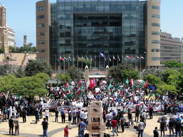 بدعوة من حركة حماس.. اعتصام في بيروت رافض لـ(صفقة القرن) ومؤتمر البحرين