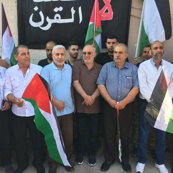 """مسيرة حاشدة في مخيم الرشيدية رفضاً لـ""""ورشة البحرين"""""""