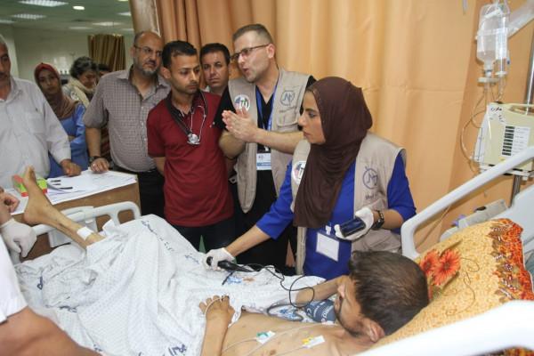 البعثة الطبية تجري عمليات جراحية وتعالج المرضى بمستشفيات قطاع غزة