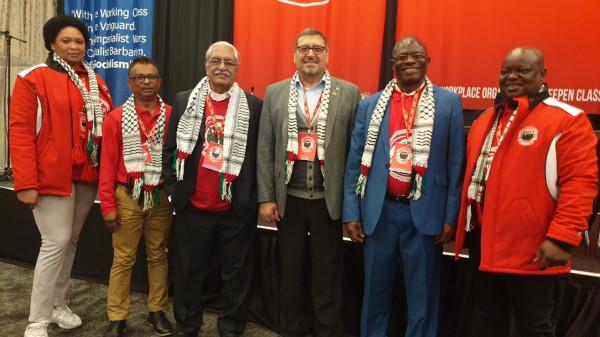 السفير الدجاني يخاطب مؤتمر السياسات العمالي الجنوب أفريقي