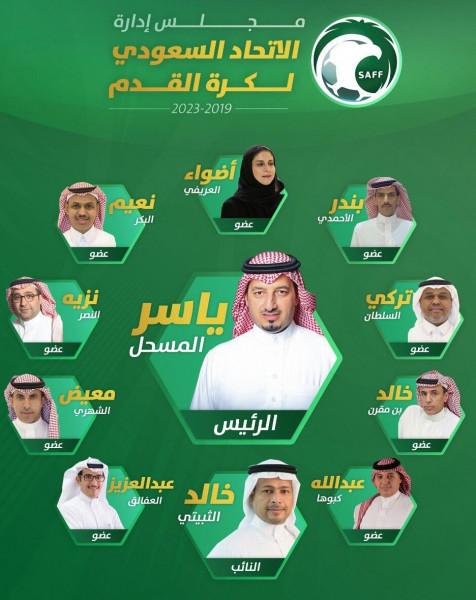 """""""ياسر المسحل"""" رئيساً للاتحاد السعودي لكرة القدم"""