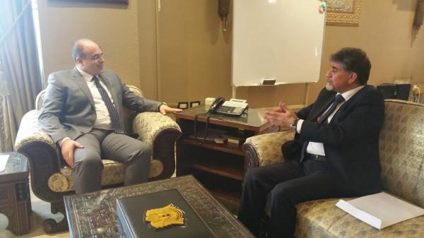 السفير عبد الهادي يبحث مع وزير الاقتصاد السوري سبل تعزيز التعاون الاقتصادي