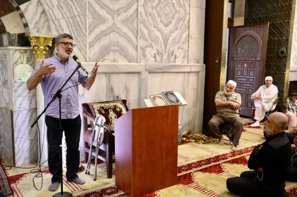 جمع غفير من المصلين في أراضي عام 48 يشاركون في لقاء الأقصى
