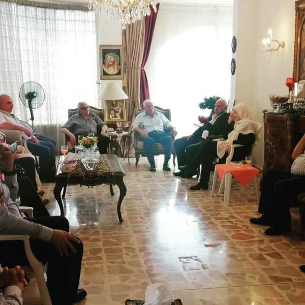 رئيس بلدية المية ومية رفعت بوسابا يستقبل النائب الحريري
