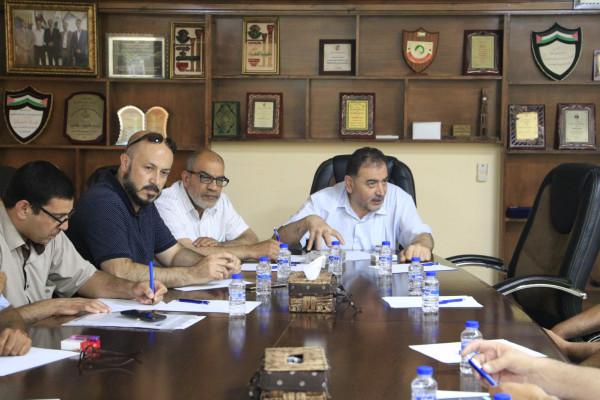 بلدية قلقيلية تستكمل لقاءها مع اصحاب المشاتل الزراعية في المدينة