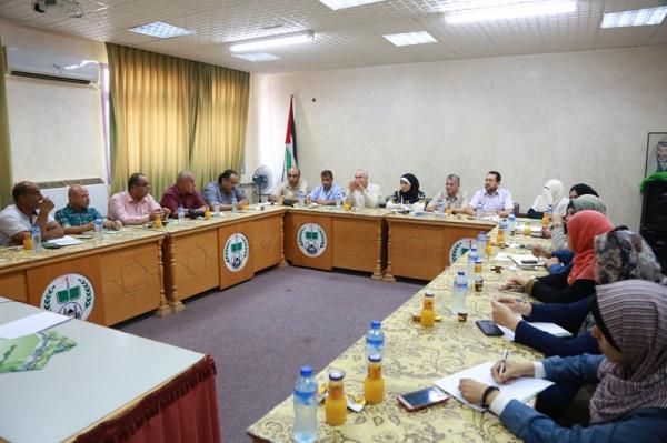 الجامعات الفلسطينية تجتمع مع الهيئة الفلسطينية للثقافة والفنون والتراث