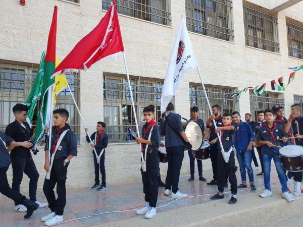 مجموعة عائدون الكشفية تبدع في حفل تخريج كلية العلوم الاسلامية في الظاهرية