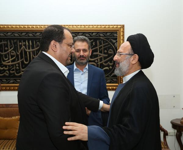 فضل الله يستقبل وفداً من حركة الجهاد الإسلامي: ضياع فلسطين يُسقط أحلامنا