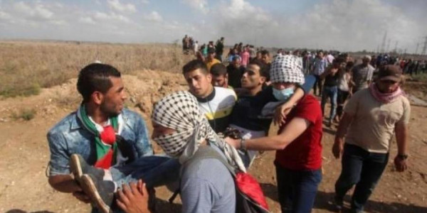 خلال الجمعة الـ66.. الصحة: إصابة 55 مواطناً برصاص الاحتلال شرقي القطاع