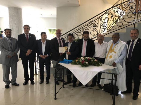 رئيس تجمع الشتات الفلسطيني بأوروبا نضال حمدان يشارك في مؤتمر المعلم العربي