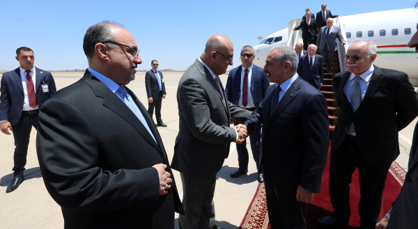 يترأس وفداً وزارياً ورجال أعمال.. اشتية يصل العراق في زيارة رسمية
