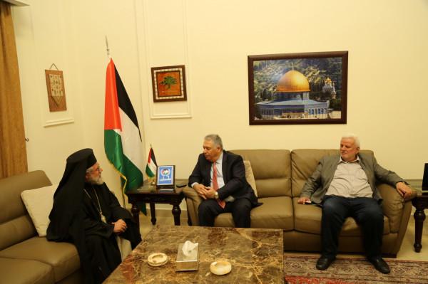 السفير دبور يطلع الأرشمندريت عبد الله يوليو على أوضاع شعبنا في لبنان