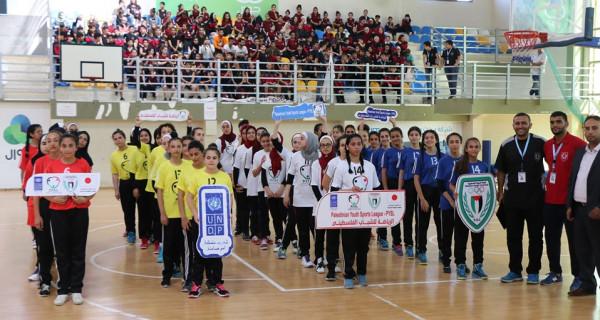 ضمن مشروع الرياضة للشباب الفلسطيني...اللجنة الأولمبية تفتتح بطولة كرة السلة للفتيات