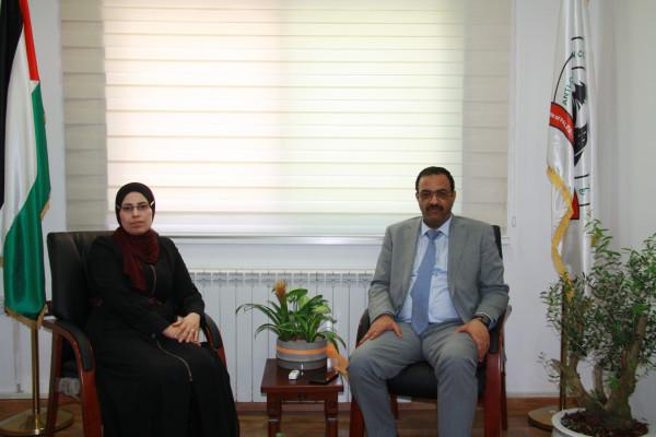براك يناقش التعاون المشترك مع المعهد القضائي الفلسطيني