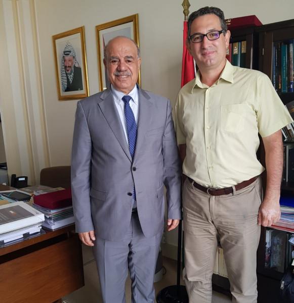 الهرفي يستقبل مسؤول العلاقات الدولية في الحزب الاشتراكي الفرنسي