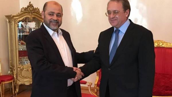 وفد حركة حماس برئاسة أبو مرزوق يلتقي بوغدانوف بموسكو.. وهذا ما ناقشاه