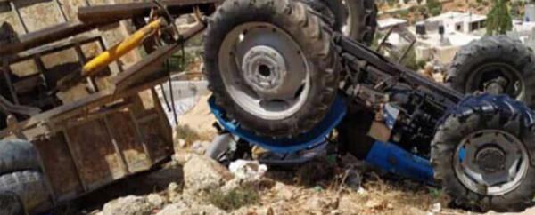 مصرع مواطن بانقلاب جرار زراعي شمال رام الله