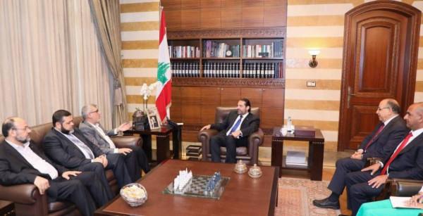 حماس للحريري: الفلسطينيون بلبنان ليسوا وافدين ولهم صفة سياسية
