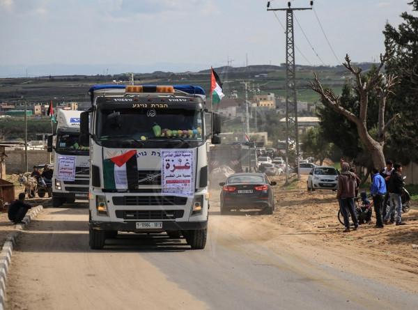 الهيئة العليا لمسيرات العودة تُطلق مسيرة للشاحنات رفضاً لحصار غزة
