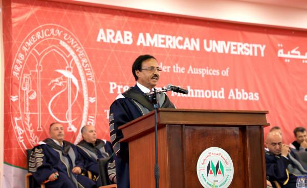 الجامعة العربية الأمريكية تحتفل بتخريج الفوج السادس عشر من طلبتها