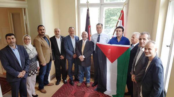 هيئة المؤسسات والجمعيات الفلسطينية والعربية تسلم السفارة اللبنانية في برلين مذكرة احتجاج