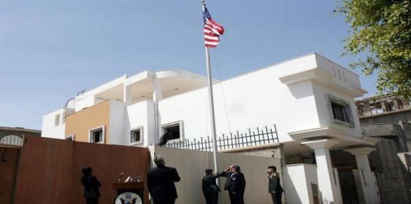 اندلاع حريق في مقر السفارة الأمريكية بالعاصمة الليبية