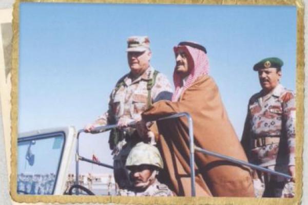 صورة نادرة للملك فهد إبان حرب الخليج