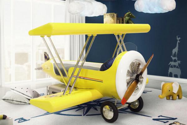 7 أفكار لديكور غرفة الطفل مستوحاة من عالم الطيران
