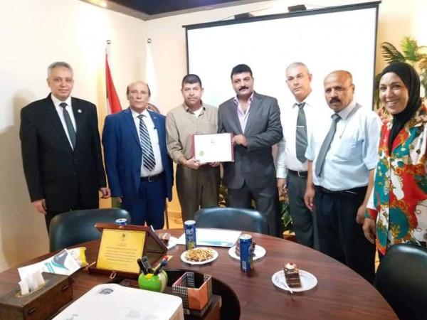 التجمع الفلسطيني للوطن والشتات يُكرم المدير التنفيذي للمؤسسة الكندية للتدريب