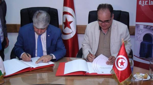 توقيع مذكرة تفاهم بمجال التنمية الاجتماعية بين فلسطين وتونس