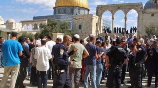 80 مستوطناً وطالباً تلمودياً يقتحمون المسجد الأقصى