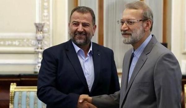وفد حماس يلتقي لاريجاني: الدفاع عن فلسطين واجب إسلامي