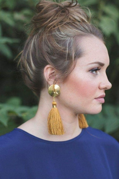 """""""Tassel earrings"""" موضة إكسسوارات 2019"""