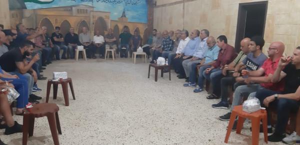"""المؤتمر الشعبي لفلسطينيي الخارج يزور """"برج البراجنة"""" ويؤكد دعمه لمطالب فلسطينيي لبنان"""